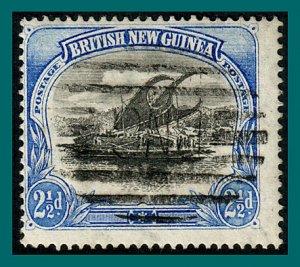 Papua 1901 Lakatoi, vert wmk, 2.5d used  #4,SG12