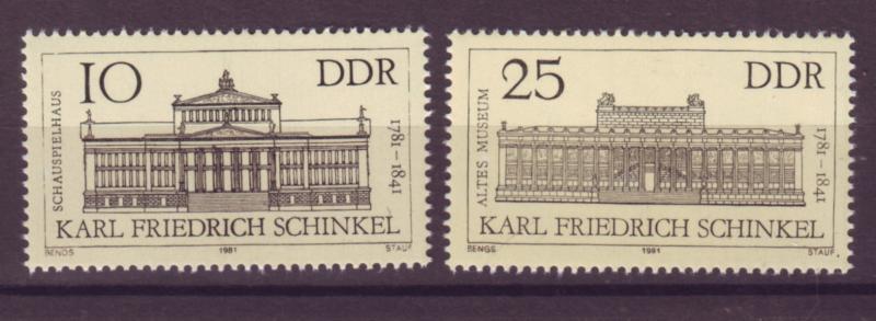 J20561 Jlstamps 1981 germany ddr mnh #2197-8 buildings