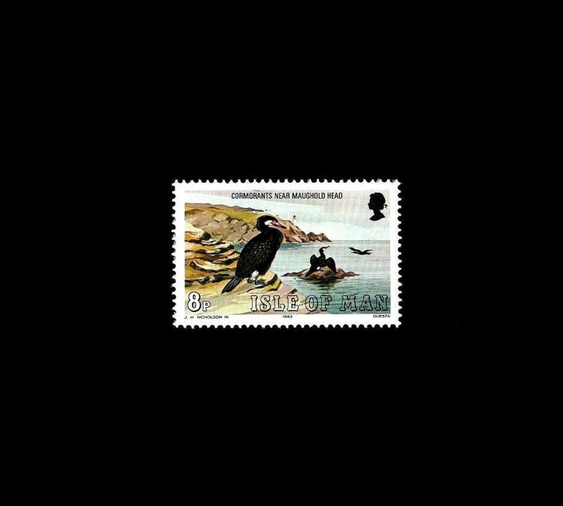 ISLE OF MAN - 1983 - BIRD - CORMORANT - MARINE BIRD - MINT - MNH SINGLE!