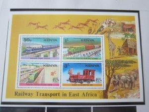 Kenya 1976 Sc 67a Train set MNH