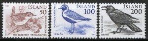 Iceland 1981, Birds, Local animals set VF MNH, Mi 567-569