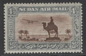 SUDAN SG56 1931 4½p RED-BROWN & GREY MTD MINT