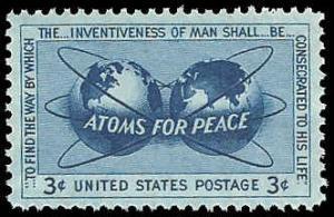 PCBstamps   US #1070 3c Atoms for Peace, MNH, (PCB-20)