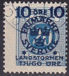 Sweden #B17 Used CV $25.00 (Z5066)
