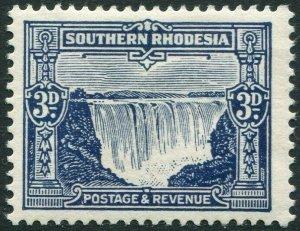 SOUTHERN RHODESIA-1931-37 3d Deep Ultramarine Sg 18 MOUNTED MINT V35948