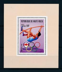 [55717] Burkina Faso 1976 Olympic games Montreal Athletics Pole Vault MNH Sheet