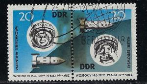 Germany DDR Scott # 656a, used, se-tenant, WZd90