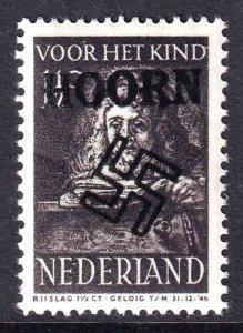 NETHERLANDS B139 HOORN OVERPRINT OG NH U/M VF BEAUTIFUL GUM