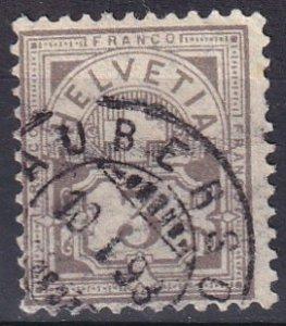 Switzerland #70a   F-VF Used  CV $72.50  (V4787)