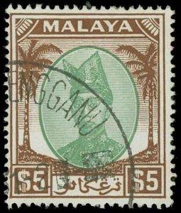 Malaya / Trengganu Scott 53-73 Gibbons 67-87 Used Set of Stamps