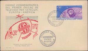 Andorra, Worldwide First Day Cover, Space