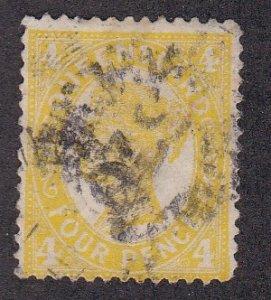 Queensland # 118, Queen Victoria, Used, 1/3 Cat.