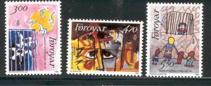 FAROE ISLANDS 145-147 MNH AMNESTY INTERNATIONAL 1986