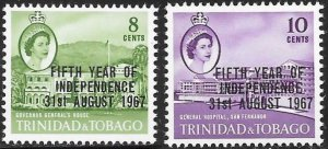 Trinidad & Tobago 123-126 MNH - 5th Year Of Independence 31st August 1967