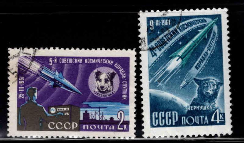 Russia Scott 2491-2492 Used CTO space dog set