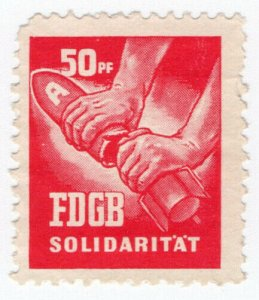 (I.B) East Germany Cinderella : FDGB Union Dues 50pf (Disarmament)