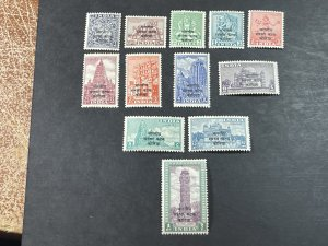 INDIA # M44-M55--MINT/NEVER HINGED---COMPLETE SET---MILITARY STAMPS---1953