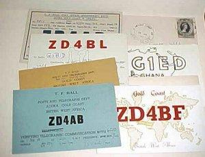 GOLD COAST 1 COVER 1953 TO USA, 5 RADIO CARDS, GHANA 3 RADIO CARDS