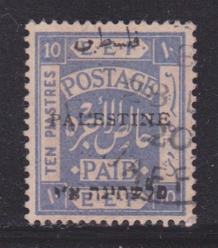 Palestine 24c VF-used light cancel nice color cv $ 58 ! see pic !