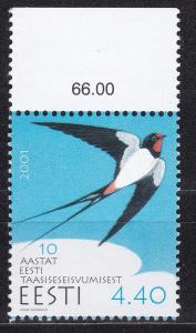 Estonia, Fauna, Birds MNH / 2001