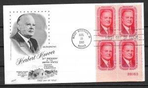 1965 Sc1269 Herbert Hoover PB4 FDC
