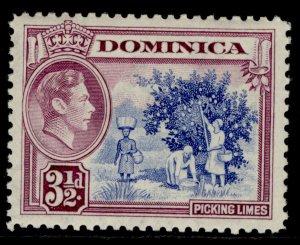 DOMINICA GVI SG104a, 3½d ultramarine & purple, LH MINT.