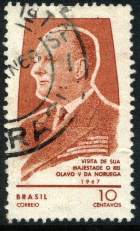 Brazil 1057, 10c Visit of King Olav of Norway. Used. (479)