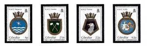 Gibraltar 587-90 MNH 1991 Royal Navy Ship Crests