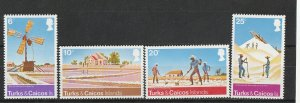 Turks & Caicos Isl. MNH 303-6 Working The Land