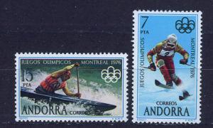 ANDORRA SPANISH 1976 MNH SC.94/95 Olympic Games Montreal