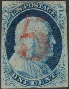 U.S. 9 Used FVF Red 5 Ccl. (13120)