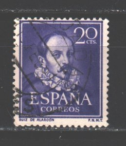 Spain. 1950. 974. De Mendoza writer. USED.