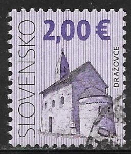 Slovakia 568: 2E Church of St Michael Archangel, Drazovce used, VF