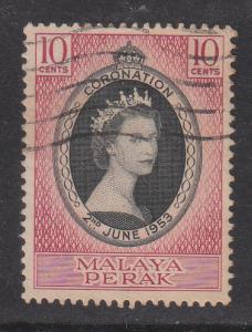Malaya Perak 1953 Sc 126 Coronation Used