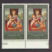 St Lucia 1967 Christmas 25c unmounted mint pair, one stam...