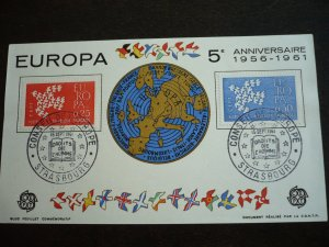 Europa 1961 - France - Set - First Day Cover Gummed Label