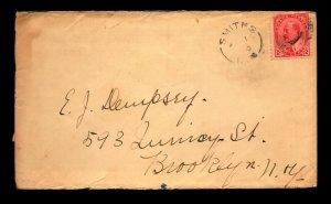 Canada 1910 Smiths BM Crisp Cancel Cover to Brooklyn - L27884