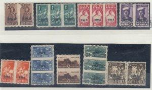South West Africa 1941/43 War Effort Reduced Size SG123/130 MNH J8403