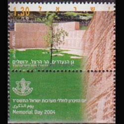 ISRAEL 2004 - Scott# 1556 Memorial Day Set of 1 NH