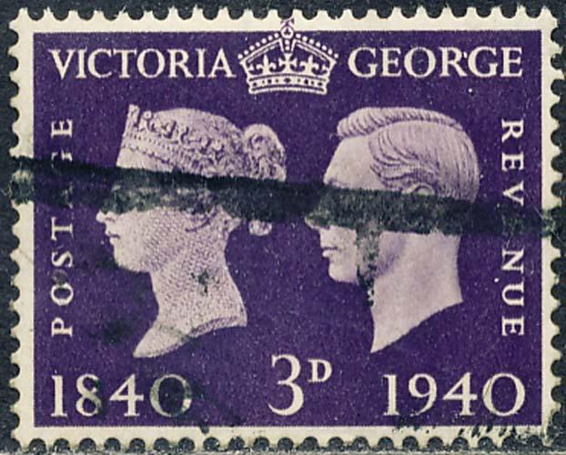 Great Britain 1940 Sc 257 Victoria & George VI Stamp Used