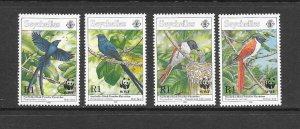 BIRDS - SEYCHELLES #775-8   MNH