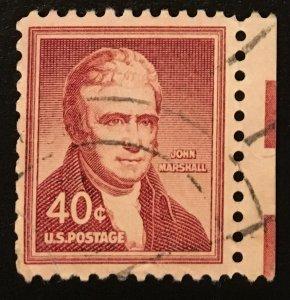 1050 J. Marshall, Liberty Series, circulated single, Vic's Stamp Stash