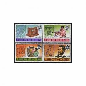 Lesotho 217-220,MNH.Michel 217-220. Telephone-100,1975.Alexander Graham Bell.