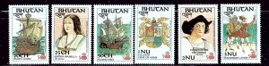 Bhutan 584-89 MNH 1987 Discovery of America    (ap2597)