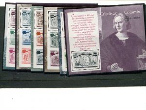 Portugal Europa  1992 Columbus set of 6 sheets