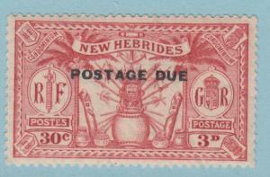 BRITISH NEW HEBRIDES J3 SG D3 MINT HINGED OG * NO FAULTS EXTRA FINE !