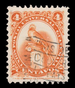 GUATEMALA STAMP 1957. SCOTT # 370. USED. # 8