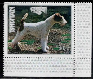 Bhutan  Scott 149h MNH** Dog stamp