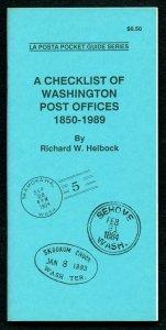 US La Posta Checklist of WASHINGTON Post Offices by Richard Helbock