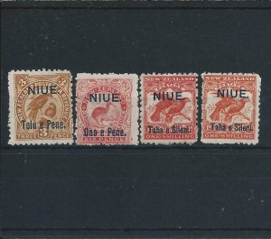 NIUE 1903 SET WITH 1s SHADE MM SG 13/14/16/16a CAT £109